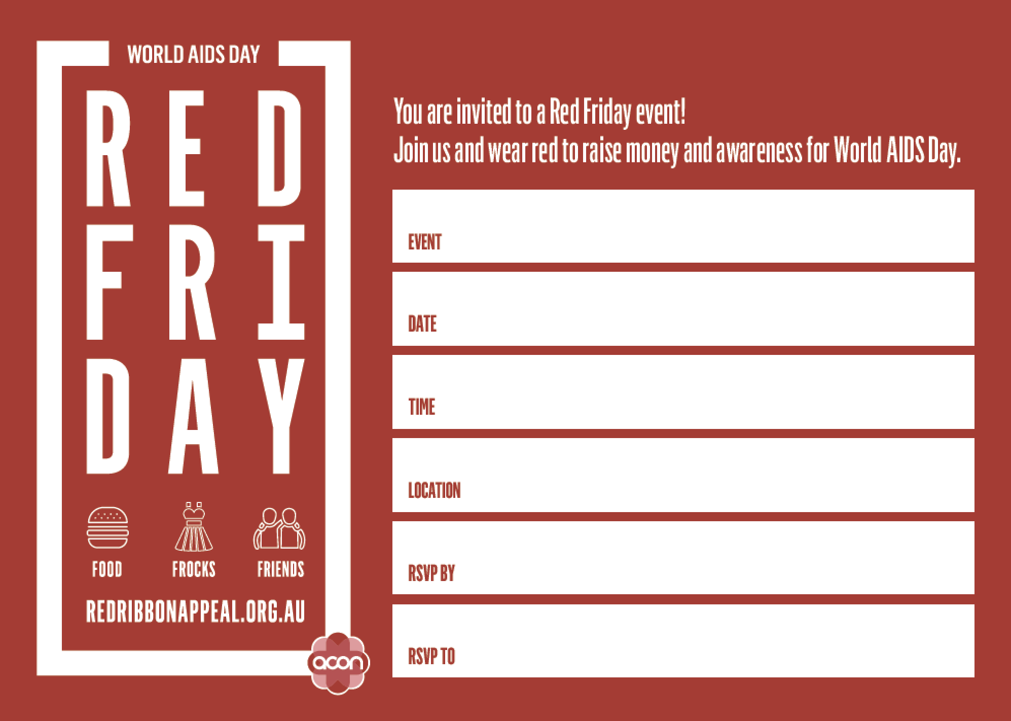 Red Friday - Invitation (PDF)