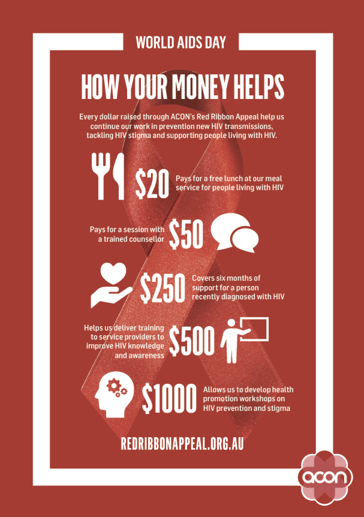 Red Friday - Poster 'How Your Money Helps' (PDF)