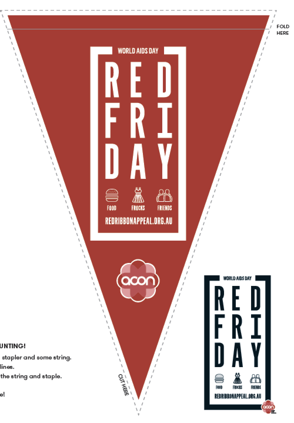 Red Friday -  DIY Bunting (PDF)