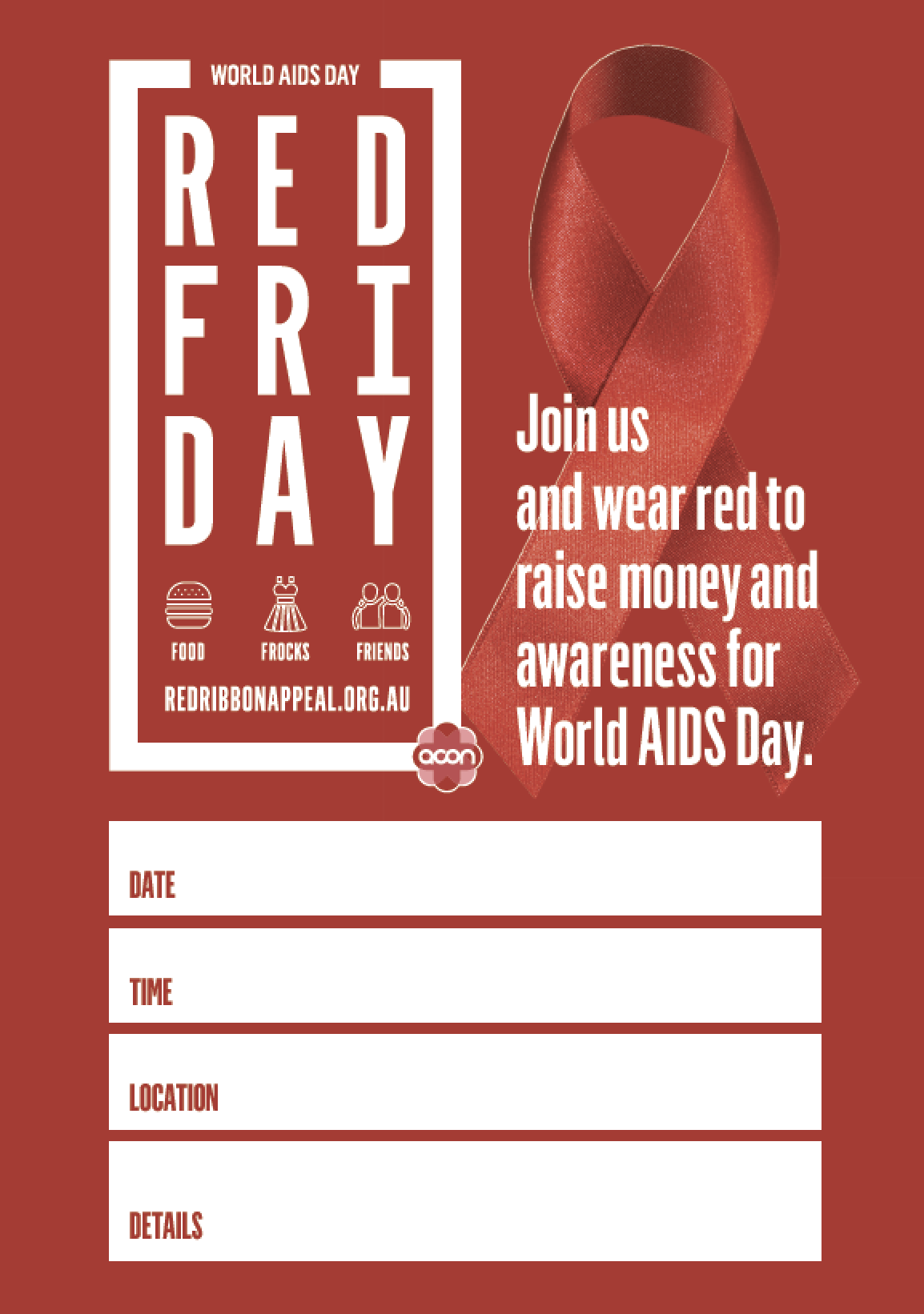 Red Friday - Poster 'Event' (PDF)